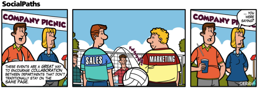 Sales vs marketing who does what hiveminds for Advertising sales companies