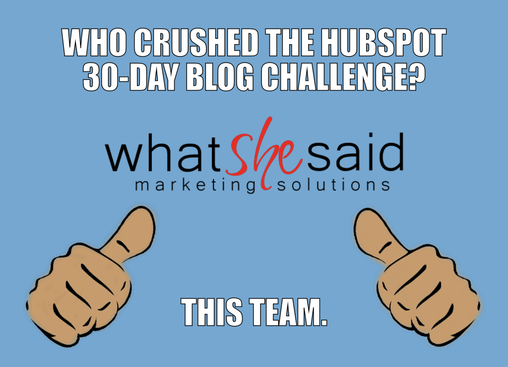 Hubspot's 30 Day Blog Challenge: The Results